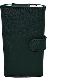 Totta Wallet Case Cover for Celkon A115 (Green) ACCEBG53MQRZHZGB