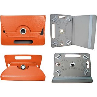 Totta Book Cover for Micromax Canvas Tab P650E (Orange)