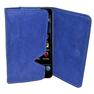 Totta Wallet Case Cover for Videocon Z51 Punch (Blue)
