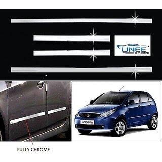 Full Chrome Steel Plated Side Beading - Honda Brio