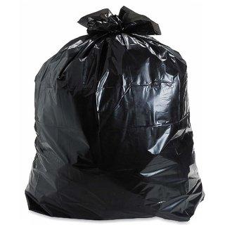 150 Pieces Black Disposable Garbage / Dust Bin Bag (19X21 Inch)