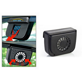 Auto Cool Car Solar Powered Side Window Cooling Fan