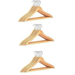 Set Of 12 Wooden Hangers