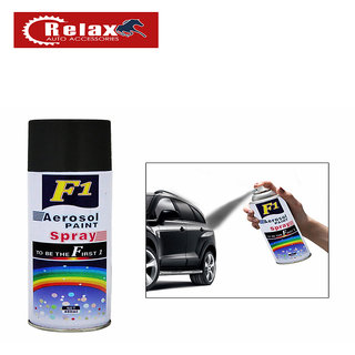 Relax F1 Aerocel Sprey Paint (Black) 450 Ml -Car/Bike Multi Purpose