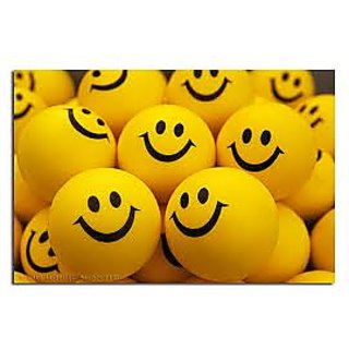 SMILEY FACE SQUEEZE BALL  SET OF 12