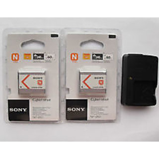 2x Sony NP-BN1 Battery & BC-CSN Charger For TX1 TX5 TX7 W380 W350 W320 W310 came