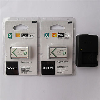 2x NP BX1 Battery   BC CSXB Charger Sony AS15 AS10 HX300 WX300 RX100 RX1 Battery