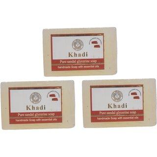 Khadi Pure Sandal Glycerine soap set of 3 (375 gm)