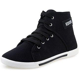 Boxer Black Canvas Casual Shoe