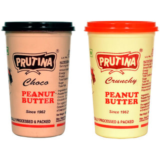 PRUTINA PEANUT BUTTER-400G ( CRUNCHY AND CHOCO ) PACK OF 2