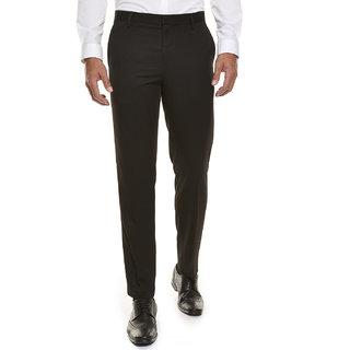 Wajbee Mens Brown Formal Trouser