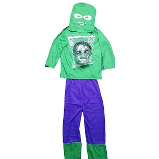 Hulk Fancy Dress Costume With Mask For Kids