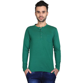 AVE Fashion Cotton Blend Henley T-shirt For Mens
