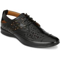 Footlodge Mens Black Casual Sandals