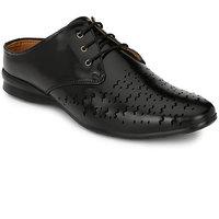 Footlodge Mens Black Casual Sandals - 93203072