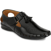 Footlodge Mens Black Casual Sandals - 93203084