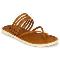 Footlodge Mens Beige Casual Sandals