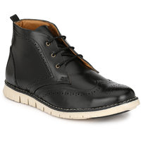 Footlodge Mens Black Casuals Lace-Up Shoes