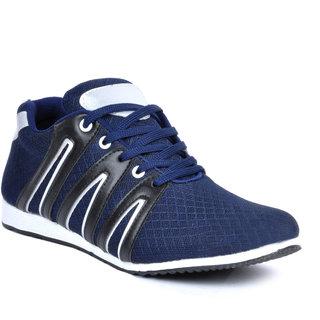 buy footlodge men's blue laceup smart casuals online