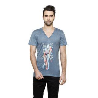 DESINVOLT - Shake Baby - Printed Mens Blue T-shirt