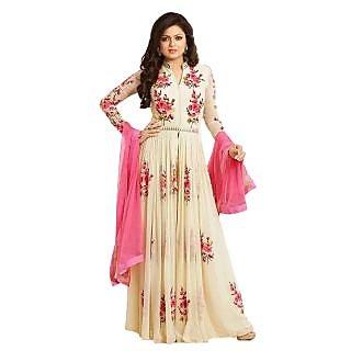 vandv Drashti Pink  Cream Anarkali Salwar Suit