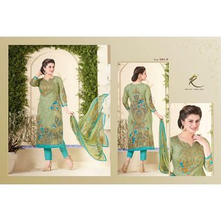 Special Rakhi brand Green embroided suit with pure dupatta