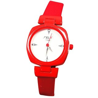 Women s Red Analog casual Nice girls Watches