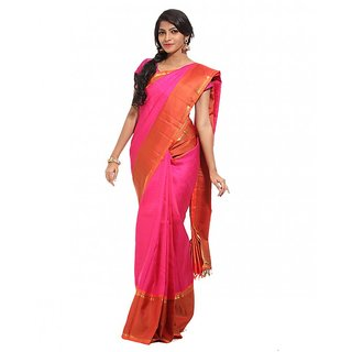 Womens Silk Saree With Blouse Piece