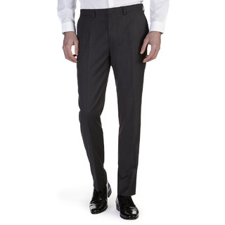 Wajbee Mens Black Formal Trouser