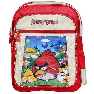 Cartoon Printed KG Kids School Bag (Angry Birds)
