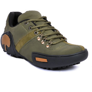 buy footlodge men's green laceup casual shoes online