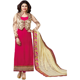 Pink Mastani Embroidered Georgette Unsttiched salwar suit