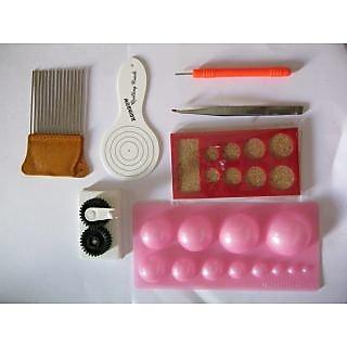 Quilling Tool Kit - ALL TOOLS - Mould-Tweezer-Crimper-Needle-Board-Comb-Coach