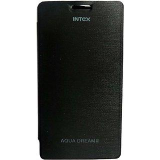 Totta Flip Cover for Intex Aqua R2         (Black)