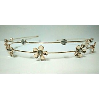 Rose gold color party double layer hairband