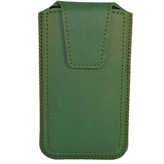 Totta Pouch for Celkon A118         (Green)