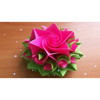 Handcraft Flowers Made Of Paper With Home Decor