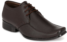Footlodge Mens Brown Formal Lace-Up Shoes