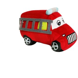 Soft Buddies Plush Toy Fire Brigade Truck, Red