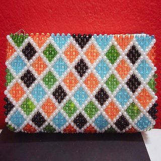 MULTI COLOR CRYSTAL HAND-CLUTCH
