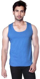 TOYOUTH Mens Dri-Fit Gym Vest(BLUE)