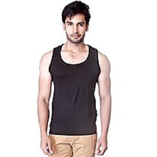 TOYOUTH Mens Dri-Fit Gym Vest(BLACK)