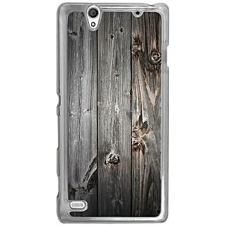 Casotec Wooden Texture Design 2D Hard Back Case Cover for Sony Xperia C4 - Clear