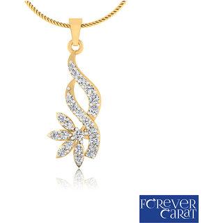 0.27ct Natural White Diamond Studded Pendant 14K Hallmarked Gold Pendant P-0178G