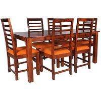 Brown Sheesham Wood 6 Seater Dining Set by shubham handicrafts