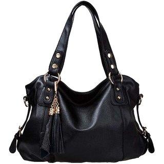 574d32b78905 GEETHA STORE Fashion Leather Bag Cowhide Womens Tassel Shoulder Vintage  Handbag Black
