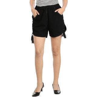 InDzone Solid Womens Denim Basic Shorts