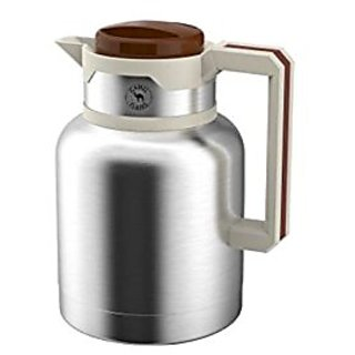 NESIMUDHEEN STORE S.S.Vaccum Flask Coffee - Tea Pots with Handles, 1000ml, 1 piece, Silver
