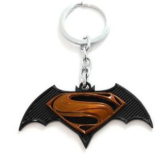 Confident 1 Black Batman Vs Supper Man Metal Key Chain