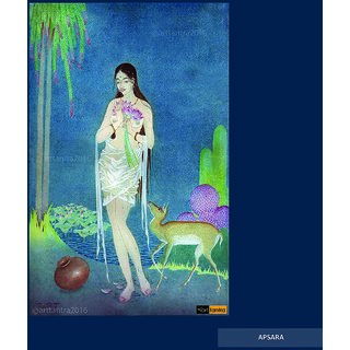 Art Tantra Fine Art Canvas Painting Apsara